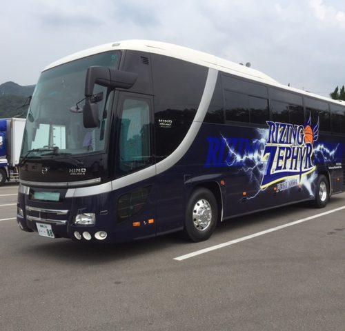 ライジングゼファー福岡 選手用バス